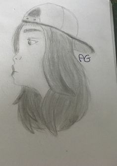 Here is a side view of a girl. The reference was on Pinterest. I'm practising side views since I'm not very good so what do you think? #sideview #sideviewdrawing #drew #draw #drawing #drawings #artisticgeorgedrawings #artisticgeorge #sketch #sketches #sketching #sketchbook #hat #cool #girl #girldrawing #pencilgrades #b6pencil #b10pencil #b2pencil #hbpencil #hair #flowyhair #cap #poutylips