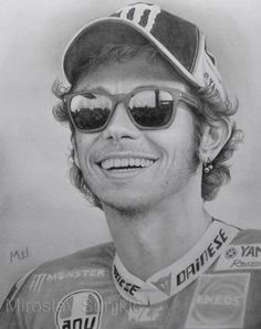 Valentino Rossi - Graphite Pencil Drawing by Miroslav Šunjkić The Pencil Maestro #motogp #race #bike #valentino #rossi #valentinorossi #champion #portrait #art #realistic #pencil #drawing #graphite #artwork #pencilmaestro