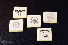 Ink Stamped Halloween Cookies