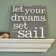 DIY Art with Sayings & Quotes Inspired by Ocean, Sea and Beach - Coastal Decor Ideas and Interior Design Inspiration Images Nautical Bathrooms, Nautical Nursery, Nautical Home, Nautical Bedroom Decor, Nautical Interior, Nautical Office, Bedroom Rustic, Vintage Nautical, Nautical Wedding