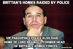 Cops have raided Tory Lord Leon Brittan's homes over alleged child abuse – just SIX weeks after he died.
