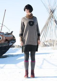 """""""Cirkulär"""" wool dress - Gudrun Sjödén"""