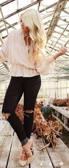 H&m Look   by Cara Loren #DressUpPartyDown