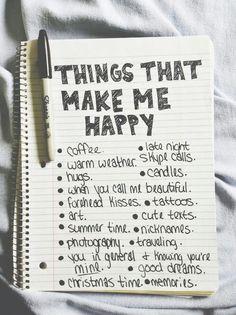 Вещи которые делают меня счастливыми или же все что делает меня счастливым