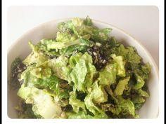 RAW FOOD VEGAN RECIPE for cesar salad/anti stress mood elevating