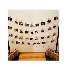 いいね!4件、コメント1件 ― @yu528wdのInstagramアカウント: 「ウェルカムスペースアイテム♡♡ ゲストの方との写真♡ 待ち時間退屈しませんように♡♡ #ウェルカムスペース#写真ガーランド#会場装飾#yu528wd」
