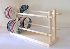Ribbon Holder Storage Wire Rack Organizer Holds by DesignsbyDuane Craft Organization, Craft Storage, Storage Rack, Storage Ideas, Storage Solutions, Sewing Room Decor, Sewing Rooms, Ribbon Display, Wrapping Paper Storage