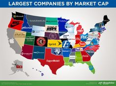 This Map Shows The Largest Company In Each State