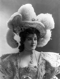 """Lillian Russell (December 4, 1860 – June 6, 1922) was an American actress and singer. She became one of the most famous actresses and singers of the late 19th and early 20th centuries, known for her beauty and style, as well as for her voice and stage presence. """"Time to open up a new chapter in life, and to explore a larger centre.""""  She looks like Adelaide Adams from the movie Calamity Jane."""