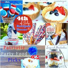 Great Ideas - 20 Fourth of July Recipes + Table Decor Ideas!
