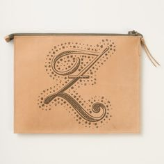 #custom #Cute Themed #gifts #hearttravelpouch #esoticadesigns -  Monogram Z Leather Travel Pouch
