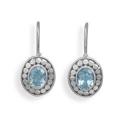 CE05081 - Blue Topaz and Oxidized Sterling Silver Earrings #lionnedesigns #bluetopaz #earrings #style #love