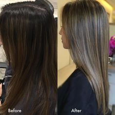 """""""Babylights are delicate highlights created using a very fine hair color technique to mimic the subtle, dimensional hair color seen on children's hair. to…"""""""