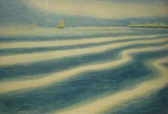 Leon Spilliaert  - Marina with Orange Sails.