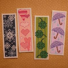A Year of Bookmarks Cross Stitch Patterns by StitchNotions on Etsy