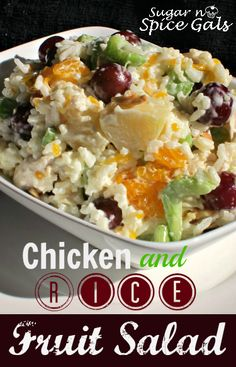 This yummy Chicken and Rice Fruit Salad is perfect for your summer barbecue!
