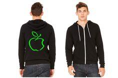 apple Zipper Hoodie