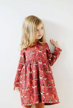Handmade Happy Village Print Dress | OffOn on Etsy