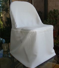 Ivory Folding Chair Covers $3.99 each / 10 for $3.49 each