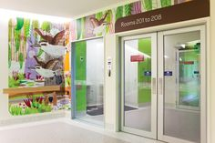 Wayfinding strategy at The Royal Children's Hospital Melbourne by Buro North, featuring illustrations by Jane Reiseger. Photograph by Fraser Marsden