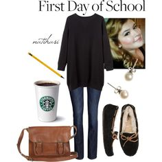 """First Day of School Outfit"" by natihasi on Polyvore"