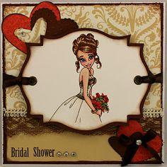 "Redonkadoodles.com - ""Wedding Bliss"" Digital Stamp - Handmade Card Design By: justwordz.ca"