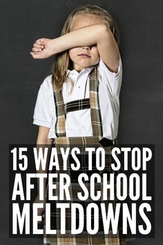15 Ways to Prevent After School Tantrums | If your kids are prone to after school meltdowns, this post explains what causes tantrums, common meltdown triggers, as well as some great coping strategies for kids and parents to help prevent after school emotional meltdowns. Perfect for kids of all ages and abilities, especially kids who are easily overwhelmed due to autism, sensory processing disorder, ADHD, etc., these tips help improve self-control and self-regulation for a smoother evening! Autism Education, Autism Classroom, Autism Sensory, Autism Activities, Kids And Parenting, Parenting Hacks, Autism Behavior Management, Autism Quotes, Self Regulation