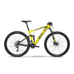 """DESCONTO de 33% - Bike BMC Fourstroke FS02 Deore/SLX Aro 29"""" Amarela e Preta - Bike Plus"""