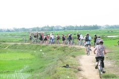 Enjoy the fresh air in the countryside #VietnamCountryside #CyclingTrip #SchoolTour