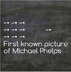 First known pic of Michael Phelps