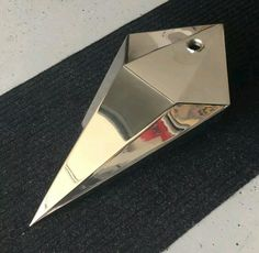 Custom Stainless Steel Chopper Fuel Tank Coffin Prism Diamond, Harley Davidson