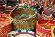Original style Ghanaian basketry Ghana West Africa Stock Photo