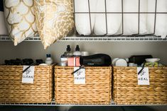 How To: Linen Closet Organization - Linen Closet Organization with Pottery Barn, Waiting on Martha