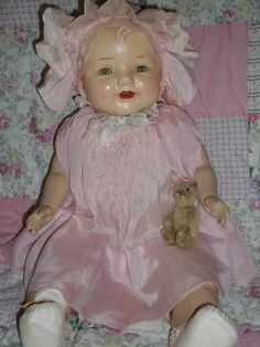 vintage antique compo composition cloth baby doll