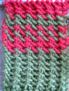Fuzzy Logic: Faux Tunisian stitch