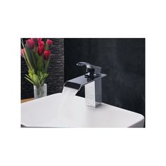 Shop for Contemporary Modern Waterfall Basin Faucet With Single Handle Bathroom Taps (MS104) at www.homelava.com with lowest price and top service!