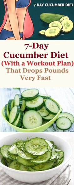 Cucumber Diet That Drops Pounds Very Fast - Natural Medicine Facts Weight Gain, How To Lose Weight Fast, Losing Weight, Weight Loss, Reduce Weight, Body Weight, Healthy Life, Healthy Living, Healthy Style