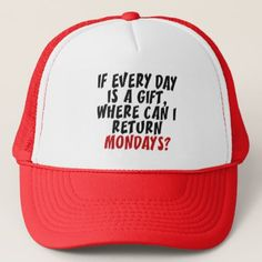 Mondays hats - funny quote quotes memes lol customize cyo