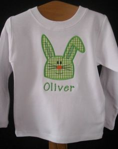 Easter Appliques T-Shirts | Easter Bunny Applique TShirt or Onesie with by lillifeeboutique