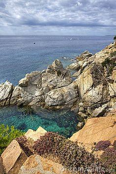 Costa Brava landscape near Tossa de Mar ~ Catalonia, Spain.