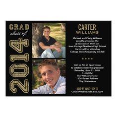 "Graduation Party Invitation | Class of 2014 5"" X 7"" Invitation Card"