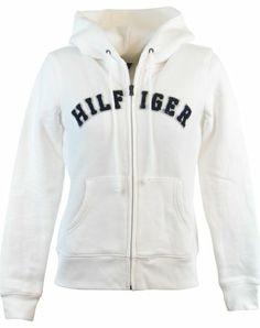 $69.99 nice Tommy Hilfiger Womens Full Zip Hooded Logo Sweatshirt