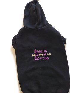 Dog Sweatshirt Hoodie – Dog Sweater – Dog Jumper – Black Dog Hoody