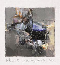 Mar. 3 2015 Original Abstract Oil Painting di hiroshimatsumoto