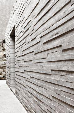 Concrete wall, concrete look wall