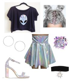 """outfit 531 My Alien Halloween Costume"" by kalexandria123 ❤ liked on Polyvore featuring The Gypsy Shrine, Miss Selfridge, Hot Topic, Halloween, outfit, Costume, Alien and holo"
