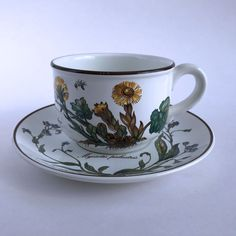 Villeroy & Boch Botanica Cup and Saucer Imperfect Two Different Backstamps