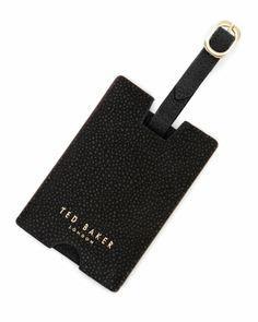 ELLO - Scotch grain luggage tag - Black | Men's | Ted Baker UK