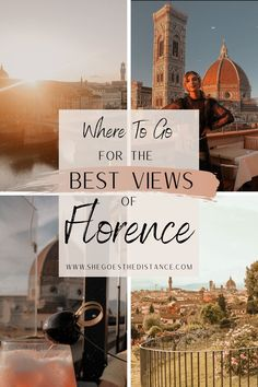 The Best Views of Florence, Italy - She Goes The Distance. Discover Florence's hidden gems to find the best views of the city! Add these beautiful spots to your Florence itinerary! Things to Do in Florence | Free Things to Do in Florence | Florence Italy Itinerary | Best Views of Florence #italytravel #florencetravelguide #italyaestethic Travel Tips For Europe, Italy Travel Tips, Things To Do In Italy, Free Things To Do, Cool Places To Visit, Places To Travel, Italy Italy, Toscana Italy, Sorrento Italy