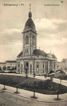 Evangelische Lutherkirche in Königsberg, Ostpreußen.